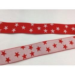 Elastique rouge avec étoiles