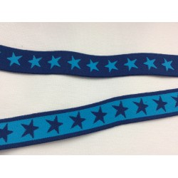 Elastic band blue with blue stars
