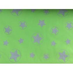 Hellgrüner Softshell mit Reflektorsternen