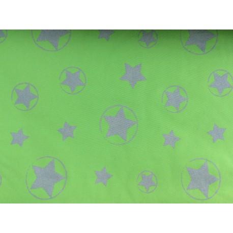 Softshell vert clair avec étoiles reflechissantes