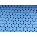 Softshell avec rond bleu clair