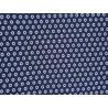 Strickjersey blau mit weissen Punkten