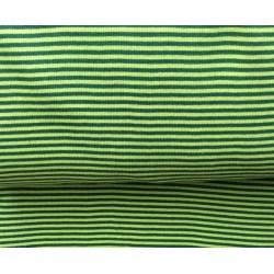 Bord-côtes à rayures vert clair-sombre