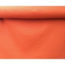 Bord-côtes à rayures orange sombre-rouge