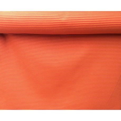 Bord-côtes à rayures orange sombre -rouge