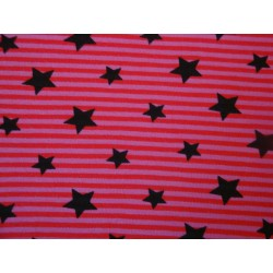 Stars on pink-red stripes