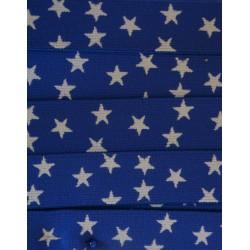 Elastique bleu avec étoiles
