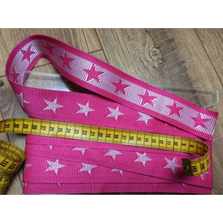 Gurtband stars pink