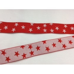 Elastic band red with stars