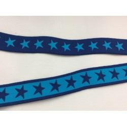 Gummiband blau mit blauen Sternen