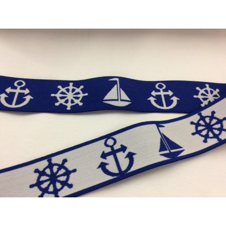 Elastic band blue with anchors