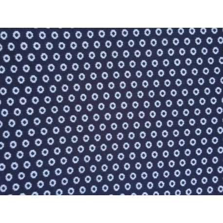 Jersey maille bleu points blancs