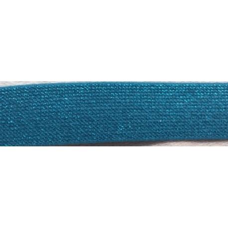 Elastic band Glitter blue