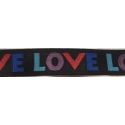 "Webbing strap ""Love"""