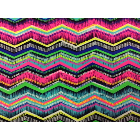 Colored waves - fabric for swimsuits