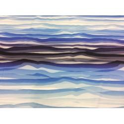 Wavy Stripes blue by Lycklig Design