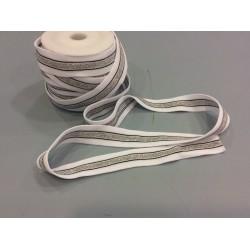 Jerseyband white silver