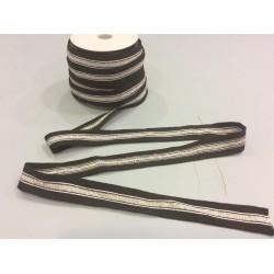 Jerseyband black silver