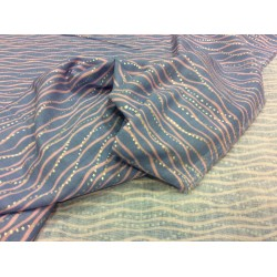 Muslin blue, waves, hot foil
