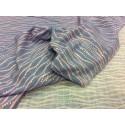 Muslin blue, waves, hot foil