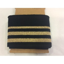 Cuff me black with golden stripes