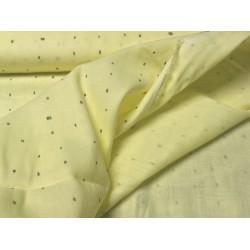 Musselin gelb mit grauen Streifen