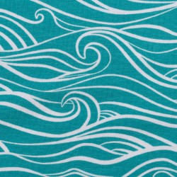 Waves by Käselotti blue aqua