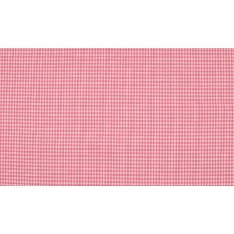 Vichy pink-white 2mm Cotton