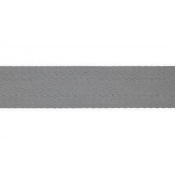 Sangle doux 40mm gris argenté
