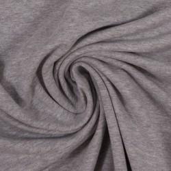 French Terry uni plain grey melange