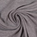 French Terry uni plain grey melange