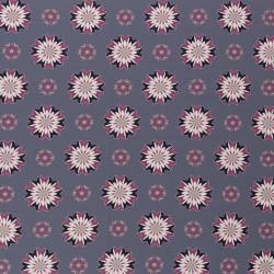 Kim Blossoms dark blue, grey, pink