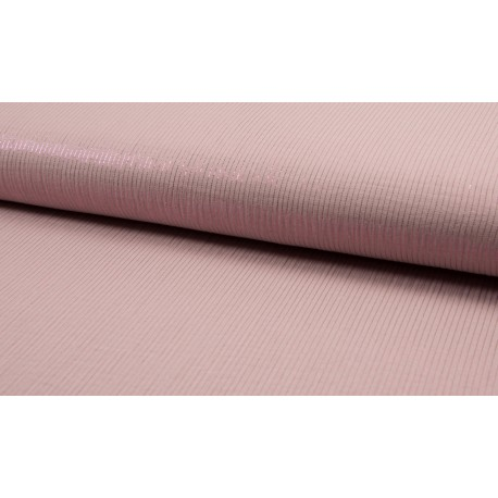 Double gaze old pink with Lurex stripes