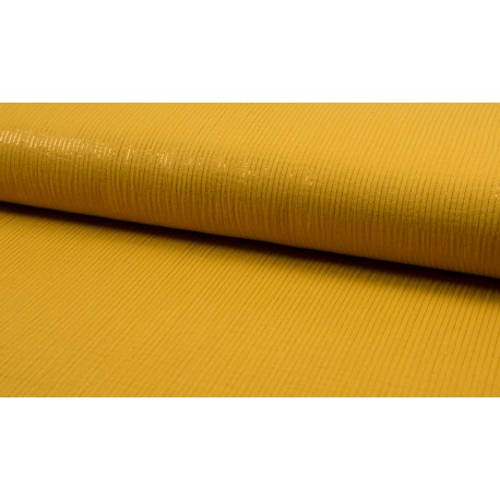 Double gaze ochre with Lurex stripes