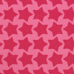 "Coated coton ""Staaars"" pink"