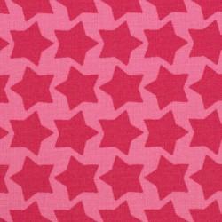 "Coton enduit ""Staaars"" rosa"