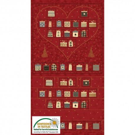 "Christmas calendar ""Heart"" red"