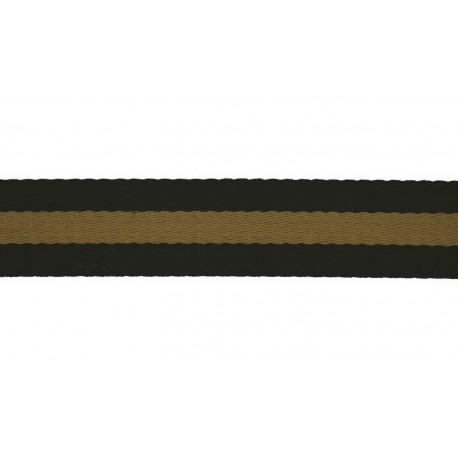 Bag Strap Soft 40mm stripes black gold