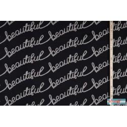 "Jacquard de coton bio ""Beautiful"""