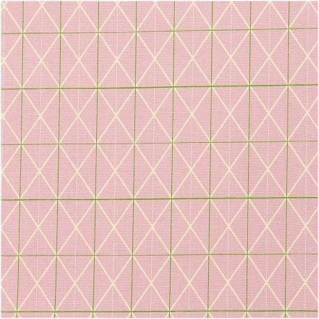 Canvas pink grid neon