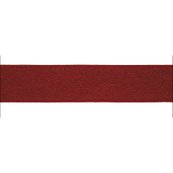 Elastic band Glitter red 40mm