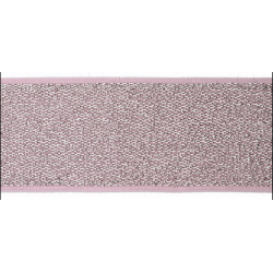 Elastic band Glitter rosa 40mm