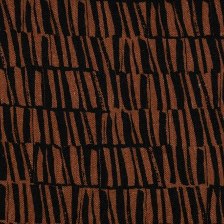 Silas red and black Lin viscose