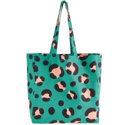 Shopper bag canvas Acid Leo, petrol
