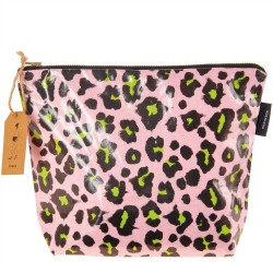 Cosmetic pouch big Acid Leo, pink