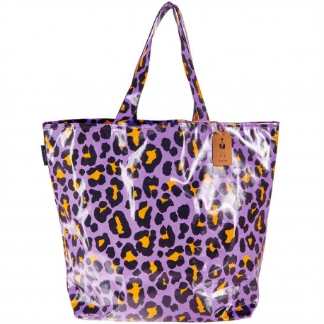 Shopping bag Acid Leo, purple