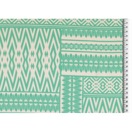 Viscose patchwork vert