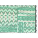 Viscose patchwork green