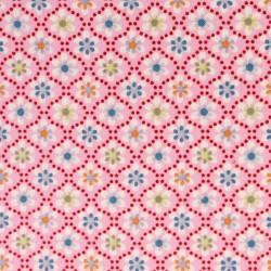 Julia Little flowers on pink