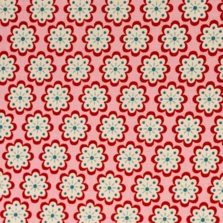 Julia Runde Blumen auf rosa